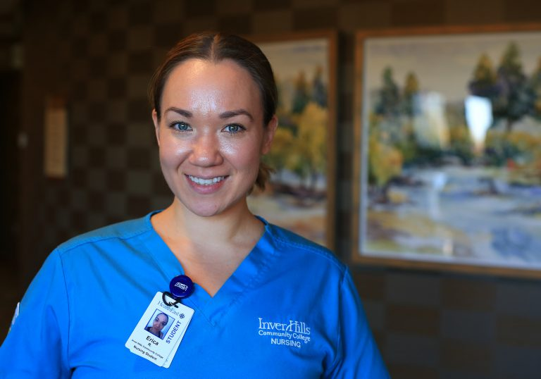 Inver Grove nursing student Erica Rgnonti at Saint Therese of Woodbury